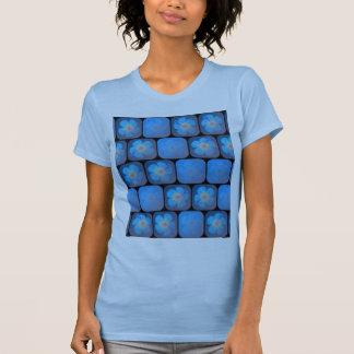 Hibiskus i blåttgel tröja