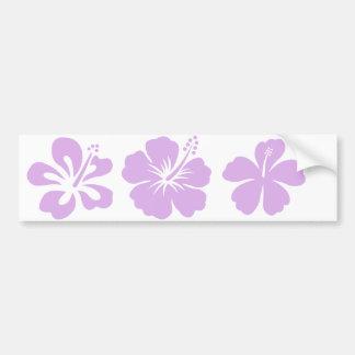 hibiskusaloha blommalavendel bildekal