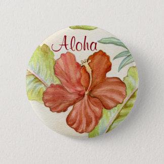 Hibiskusen Aloha knäppas Standard Knapp Rund 5.7 Cm