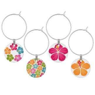 Hibiskusen blommar illustrationer berlock vinglas