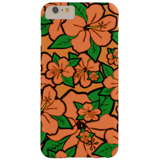 Hibiskusen blommar persikan barely there iPhone 6 plus fodral