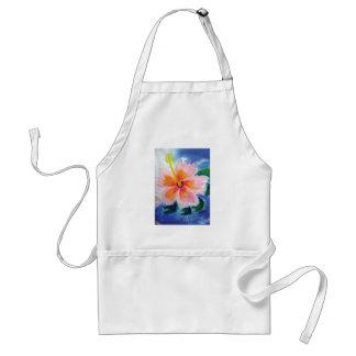 hibiskusen maui, hawaii, rosa, blommar förkläde