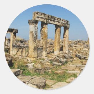 Hierapolis blev läka centrerar i romerska tider runt klistermärke