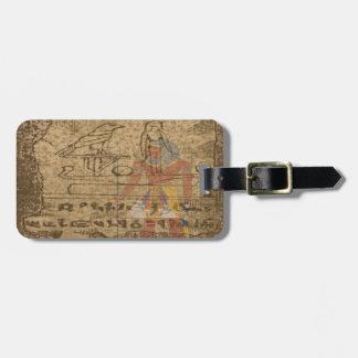 Hieroglyphic egyptier bagagebricka