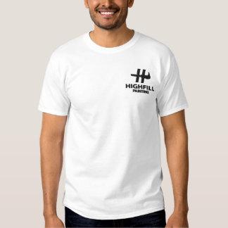 Highfill målning broderad skjorta broderad t-shirt