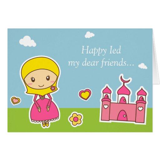 Hijab flickakort hälsningskort
