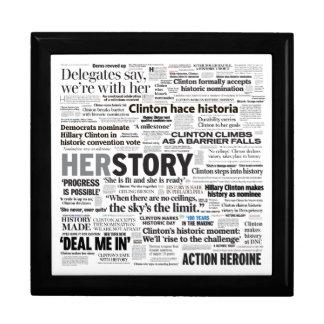 Hillary 2016 historiska rubrikCollage boxas Minnesask