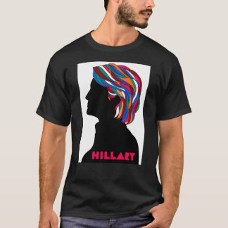 Hillary 2016: Retro designmanar T-tröja (svart) Tee Shirt