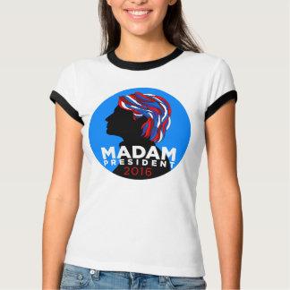 Hillary 2016: T-tröja för madampresidentRinger Tshirts