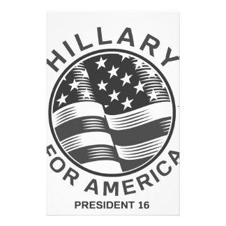 Hillary Clinton 16 Brevpapper