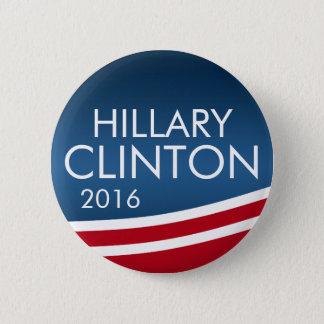 Hillary Clinton 2016 modern nedslagdesign Standard Knapp Rund 5.7 Cm