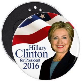 Hillary Clinton för den presidentjumbon 2016 Jumbo Knapp Rund 15.2 Cm