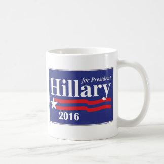 Hillary Clinton för den presidentkaffemuggen 2016 Vit Mugg