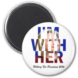 Hillary Clinton för president Magnet Rund 5.7 Cm