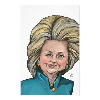 Hillary Clinton karikatyr Brevpapper