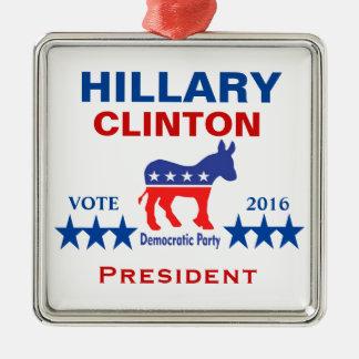Hillary Clinton president 2016 Julgransprydnad Metall
