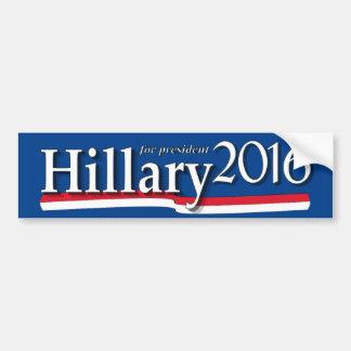 Hillary för den presidentbildekalet 2016 bildekal