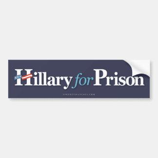 Hillary för fängelse bildekal