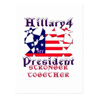Hillary för USA presidenten är vi starkare Vykort
