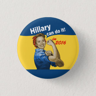 Hillary kan göra det 2016 mini knapp rund 3.2 cm