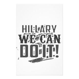 Hillary kan vi göra det! brevpapper