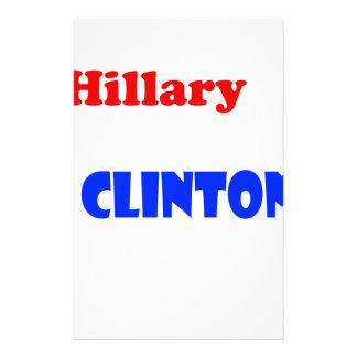 Hillary Rodham Clinton Brevpapper