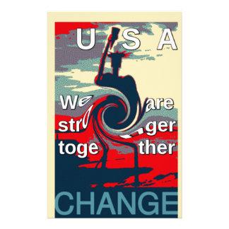 Hillary USA är vi starkare tillsammans Brevpapper