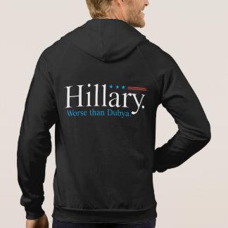 Hillary. Värre än Dubya. Munkjacka