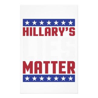 Hillarys liggra materia brevpapper