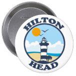 Hilton Head Island. Stor Knapp Rund 10.2 Cm