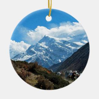 Himalaya Mount Everest Indien Nepal reser sommar Julgransprydnad Keramik
