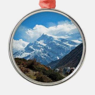 Himalaya Mount Everest Indien Nepal reser sommar Julgransprydnad Metall