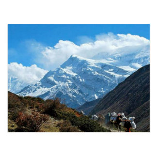Himalaya Mount Everest Indien Nepal reser sommar Vykort