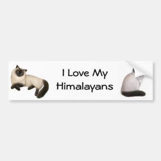 Himalayan kattbildekal för anpassade bildekal
