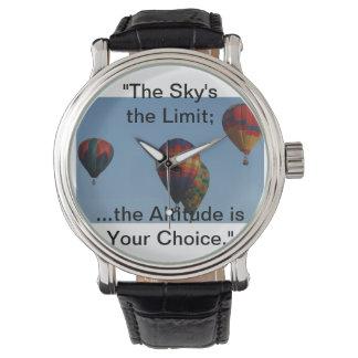 """""""Himmel begränsa; höjden är ditt val Armbandsur"""