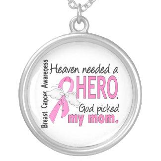 Himmel behövde en hjältemammabröstcancer silverpläterat halsband