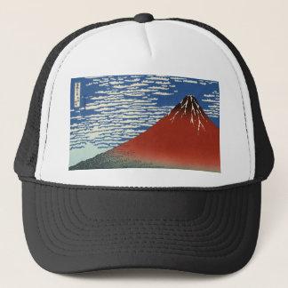 Himmel för Hokusai röd Fuji för södra vindfrikänd Truckerkeps