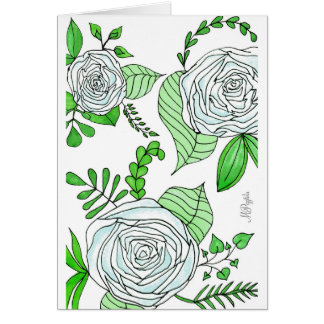 Himmel + Limefrukt//blom- tryck Hälsningskort