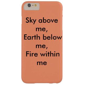 Himmel ovanför mig, jorda en kontakt nedanfört barely there iPhone 6 plus skal