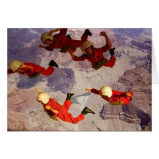 Himmel som dyker över grand Canyonhandlingmanen Hälsningskort