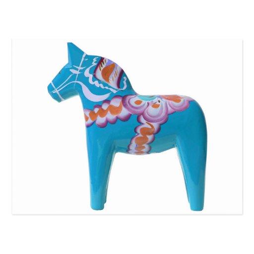 HimmelblåttDala häst Vykort