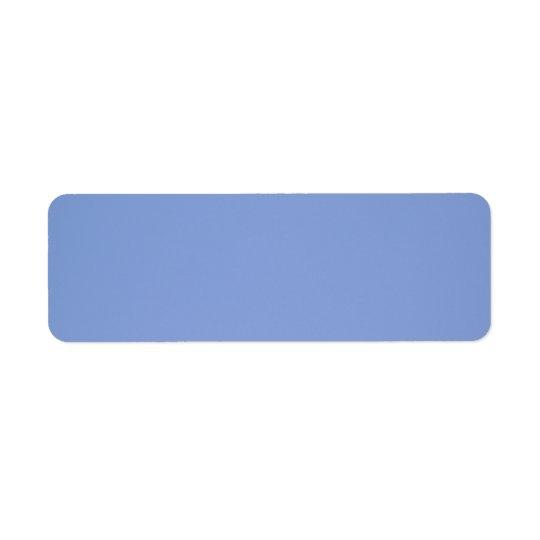 Himmelblåttfärg Returadress Etikett