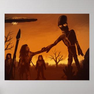 Himmelfolk - främmande affischtryck för fantasi 11