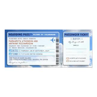 himmellogiet passerar bröllopbiljett-inbjudan med 10,2 x 23,5 cm inbjudningskort