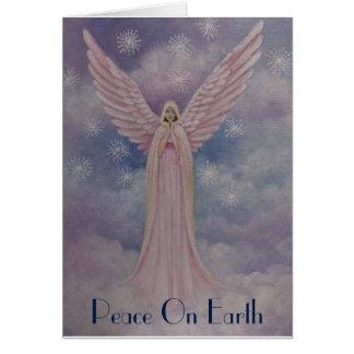Himmelsk ängel, julkort hälsningskort