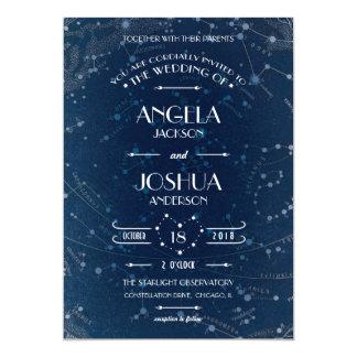 Himmelsk bröllopinbjudan 12,7 x 17,8 cm inbjudningskort