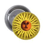 Himmelsk gul le lycklig Hippiesol för vintage