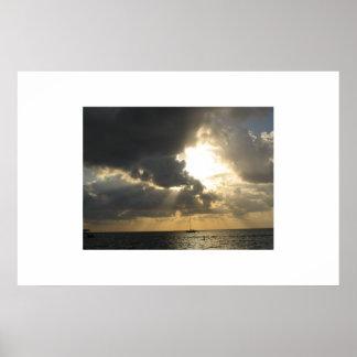 Himmelsk himmel (San Pedro, Belize) Poster