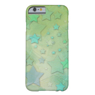 Himmelsk modern konst för Aquamarinestjärnor Barely There iPhone 6 Skal
