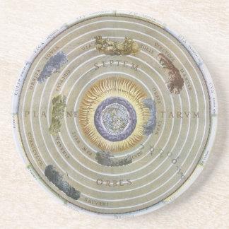 Himmelsk Ptolemaic Planisphere för Glasunderlägg
